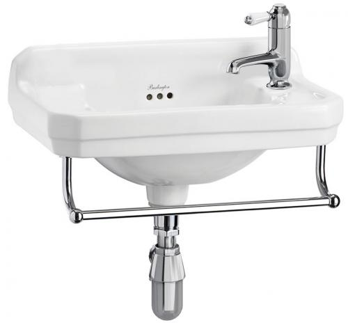 Wash Basin - Burlington Edwardian JR 51 cm with towel rail - old style - vintage interior - old fashioned style - classic interior