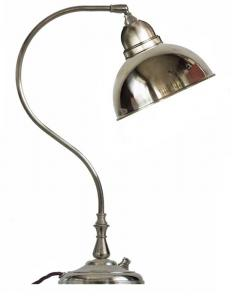 Table lamp - Lagerlöf nickel-treated brass shade