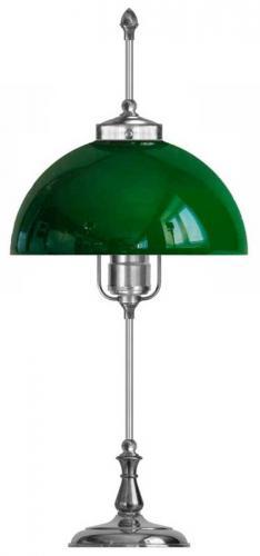 Bordlampe - Swedenborg nikkel, grønn skjerm