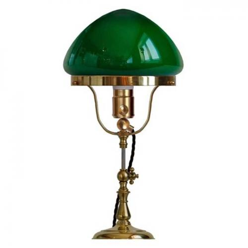 Table Lamp - Fogelklou brass, green shade