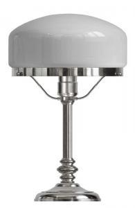 Bordslampa - Karlfeldt förnicklad, vit skärm