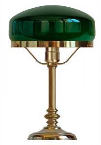 Bordlampe - Karlfeldt messing, grønn skjerm
