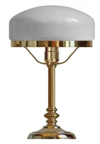 Table lamp - Karlfeldt brass, white shade