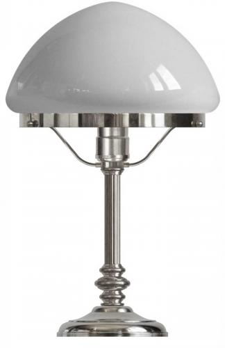 Table lamp - Karlfeldt nickel, pointed white shade