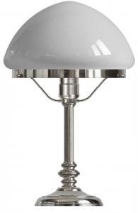 Bordslampa - Karlfeldt förnicklad, toppig vit