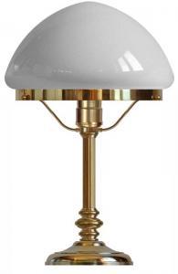 Table lamp - Karlfeldt brass, pointed white shade