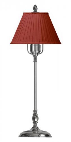Bordlampe - Ankarcrona 52 cm, nikkel rød skjerm