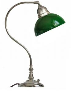 Table lamp - Lagerlöf nickel with green glass