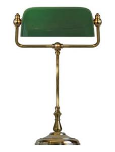 Bankers Lamp - KL brass, green shade