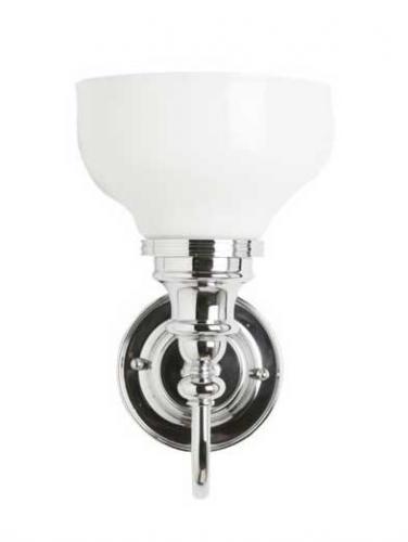 Badrumslampa Burlington - Vägglampa med frostat glas
