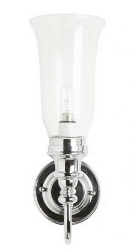 Badrumslampa Burlington - Vägglampa med glasskärm