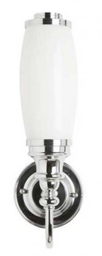Badrumslampa Burlington - Vägglampa med frostad tubskärm