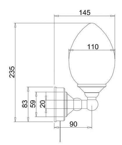 Badrumslampa - Burlington vägglampa med droppskärm