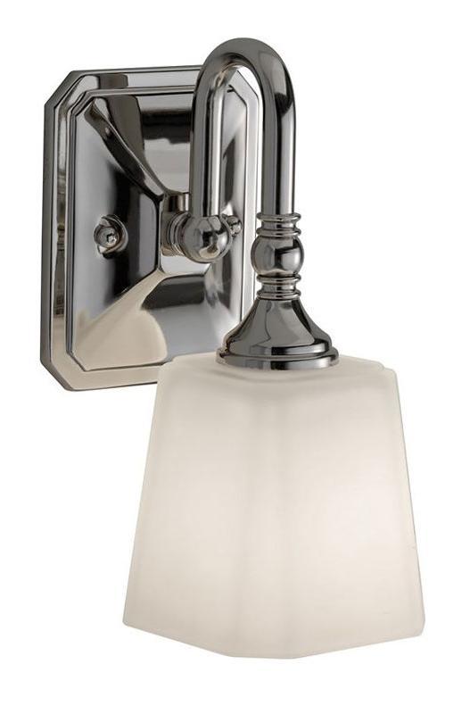 Bathroom lamp - Wall lamp Addislade chrome / glass - oldschool style - vintage interior - classic style - retro