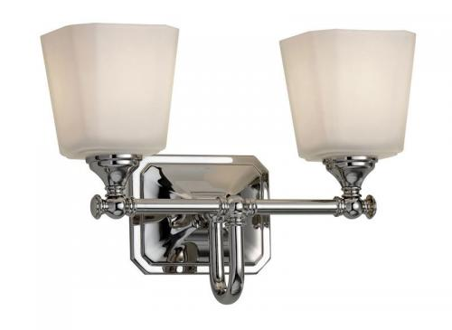 Bathroom lamp - Wall lamp Addislade  two-armed chrome / glass