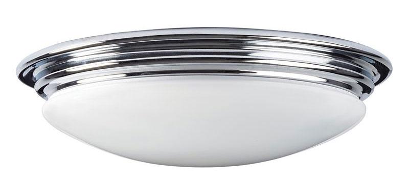Baderomslampe - Taklampe Bovey plafond krom/matt hvit