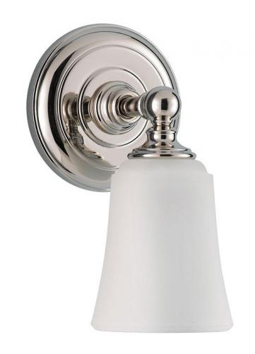 Bathroom lamp - Wall lamp Coquet chrome / frosted - oldschool style - vintage interior - classic style - retro