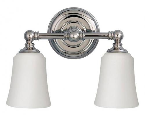 Bathroom lamp - Wall lamp Coquet two-armed chrome / frosted