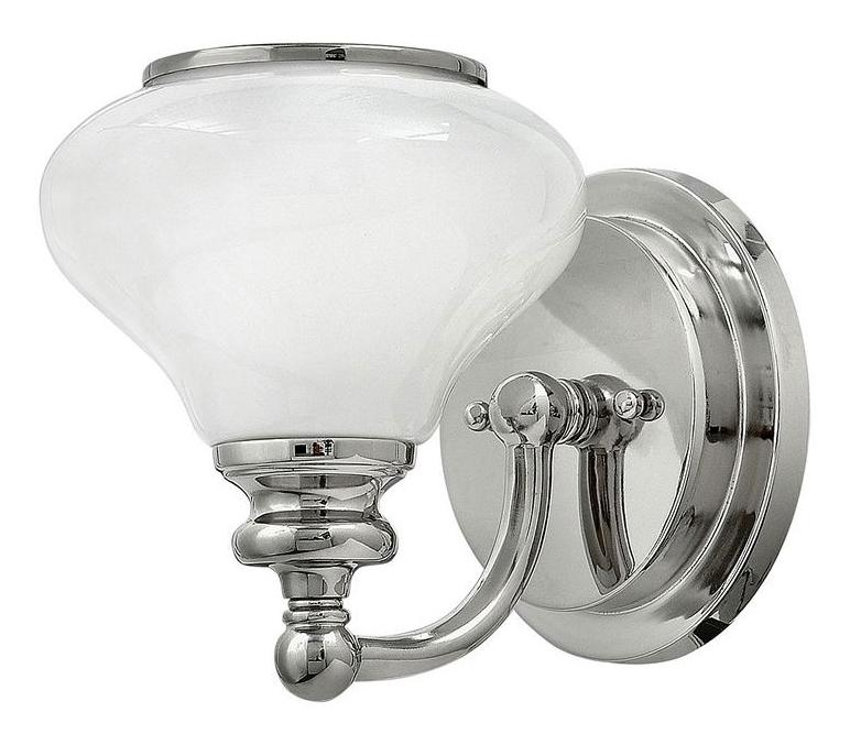 Baderomslampe - Vegglampe Frogmore krom/hvit - arvestykke - gammeldags dekor - klassisk stil - retro