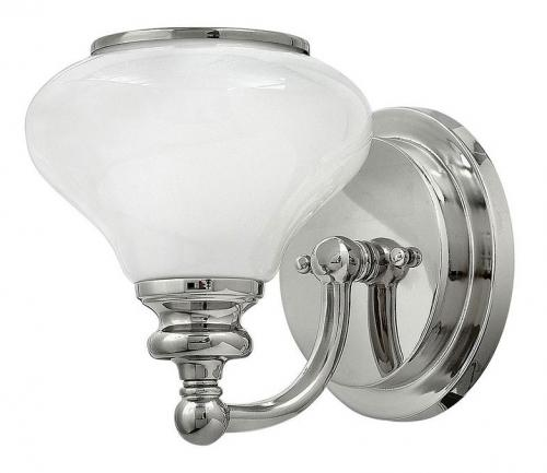 Bathroom lamp - Wall lamp Frogmore chrome/white - oldschool style - vintage interior - classic style - retro