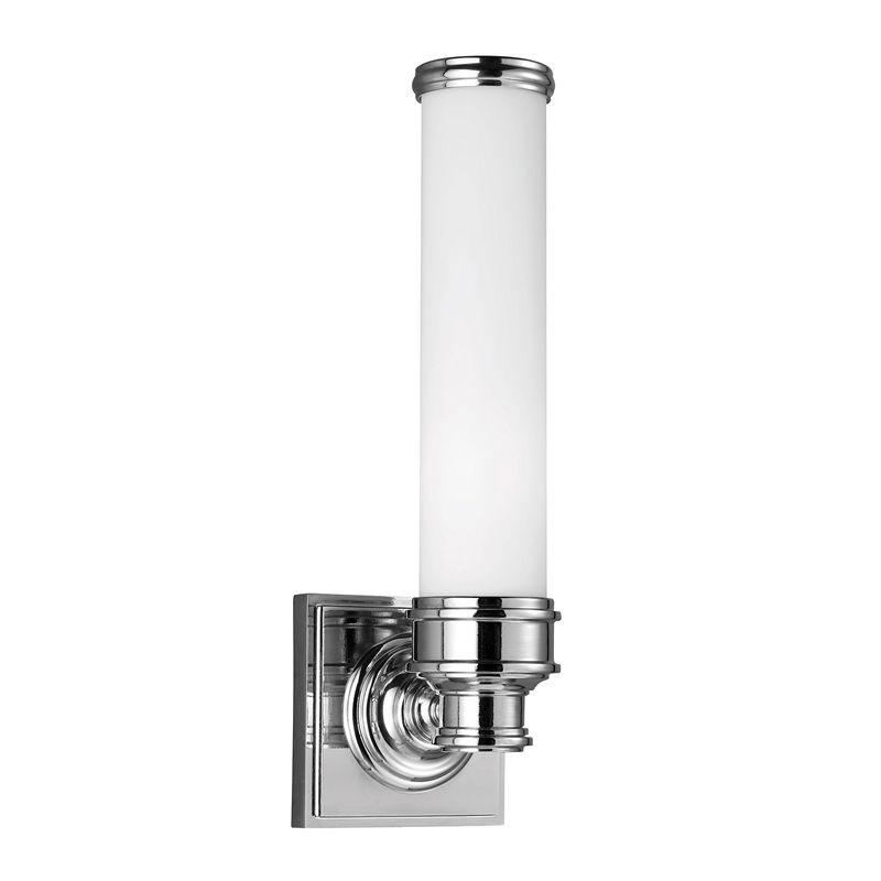 Bathroom lamp - Wall lamp Longford chrome / white glass