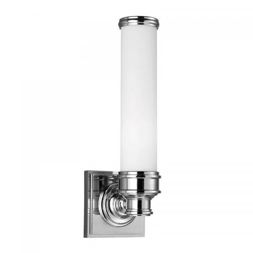 Bathroom lamp - Wall lamp Longford chrome / white glass - oldschool style - vintage interior - classic style - retro