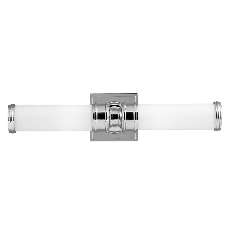 Baderomslampe - Vegglampe Longford dobbel hvit/krom