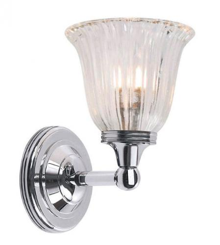 Bathroom lamp 20's - Wall lamp Truro chrome / glass - oldschool style - vintage interior - classic style - retro