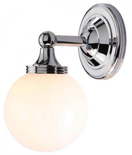 Bathroom Lamp - Wall Lamp Truro Chrome / White - oldschool style - vintage interior - classic style - retro