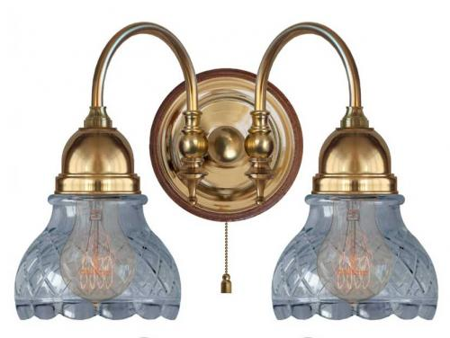 Wall lamp - Stackelberg clear cut bell shade