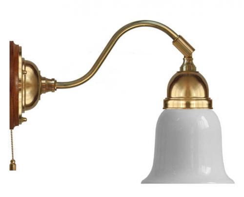 Wall lamp - Runeberg brass white bell shade