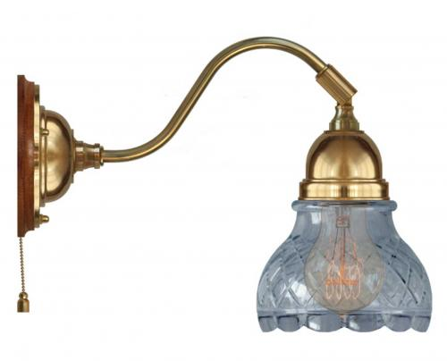 Wall lamp - Runeberg brass clear cut bell shade