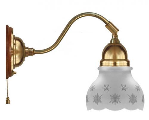 Wall lamp - Runeberg brass cut matte glass