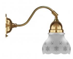 Vägglampa - Runeberg mässing slipat mattglas