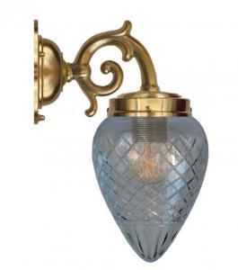 Vegglampe - Topelius klar dråpe - arvestykke - gammeldags dekor - klassisk stil - retro