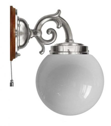 Wall lamp - Topelius nickel opal white