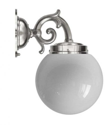 Wall lamp - Topelius nickel opal white