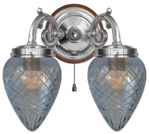 Wall lamp - Tegengren nickel clearglass