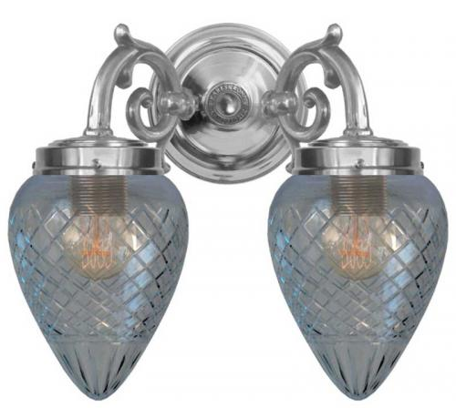 Wall lamp - Tegengren nickel clearglass