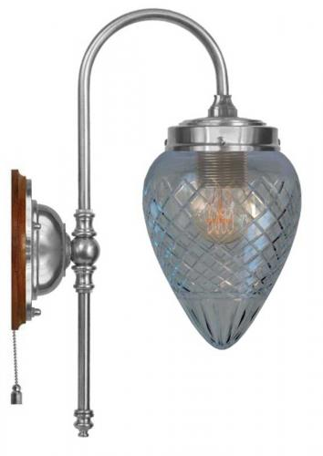 Wall lamp - Blomberg 80 nickel-plated brass clear drop