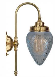 Vägglampa - Blomberg 80 droppe klarglas -  sekelskiftesstil - gammaldags inredning - retro - klassisk stil