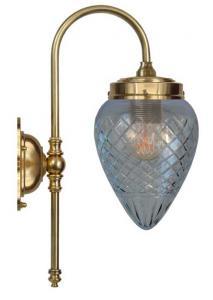 Vegglampe - Blomberg 80 dråpe kuppel - arvestykke - gammeldags dekor - klassisk stil - retro