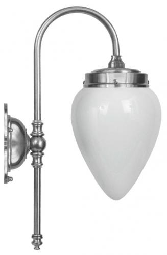 Bathroom Lamp - Blomberg 80 nickel, opal white drop