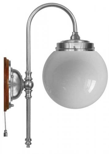 Wall lamp - Blomberg 80 nickel globe opal white