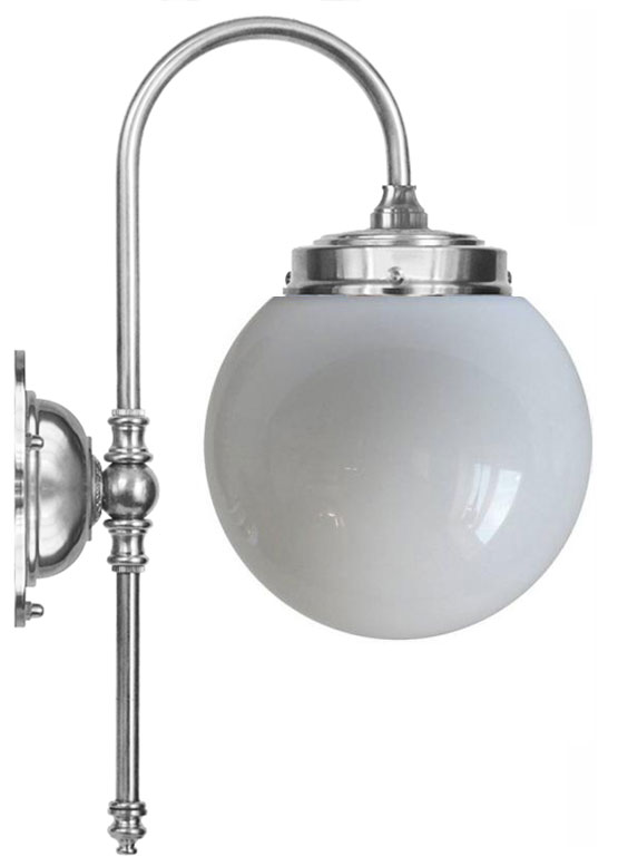 Wall lamp - Blomberg 80 nickel globe opal white