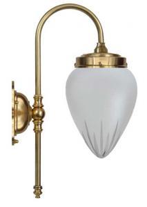 Vegglampe - Blomberg 80 matt glass - arvestykke - gammeldags dekor - klassisk stil - retro