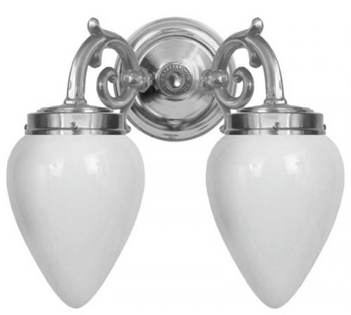 Wall lamp - Tegengren nickel, opal white