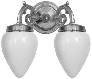Wall lamp - Tegengren nickel, opal white