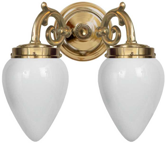 Bathroom wall lamp - Tegengren opal white
