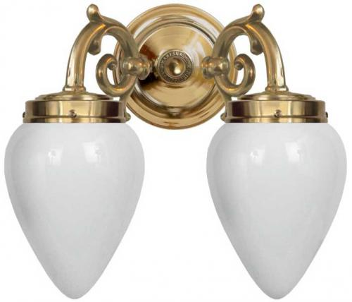 Bathroom wall lamp - Tegengren opal white
